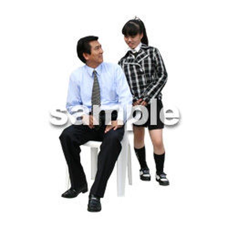 人物切抜き素材 ファミリー編 F_268