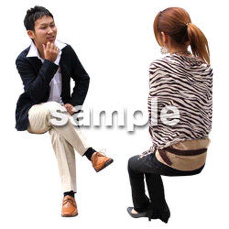 人物切抜き素材 アーバン・ショッピング編 M_358