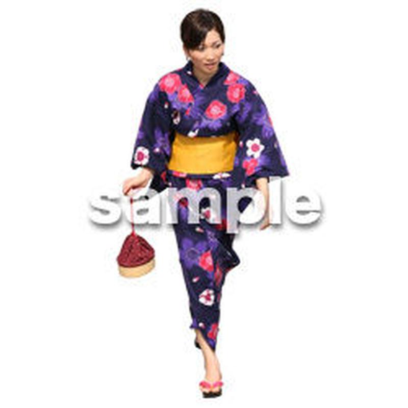 人物切抜き素材 夏服・フィットネス編 J_035