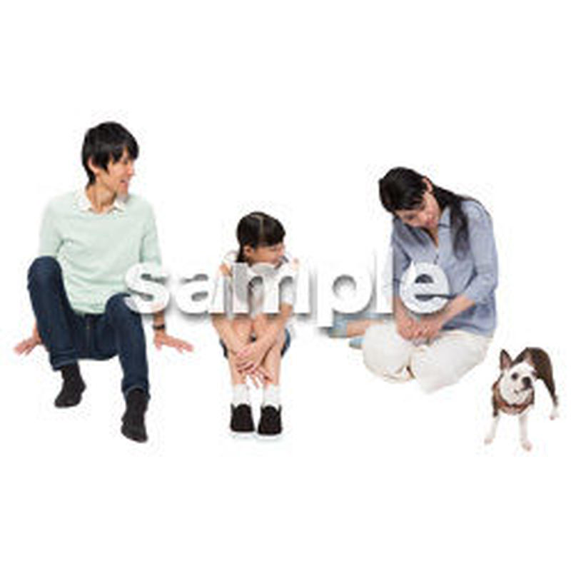 Cutout People 犬の散歩 II_496