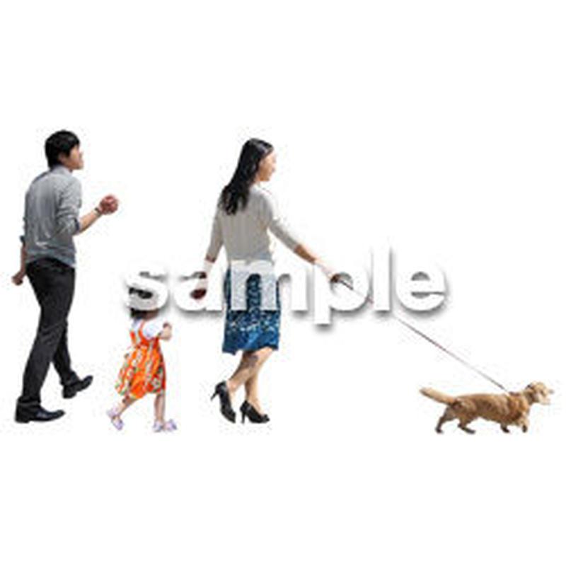 人物切抜き素材 ショッピングモール護編 T_169