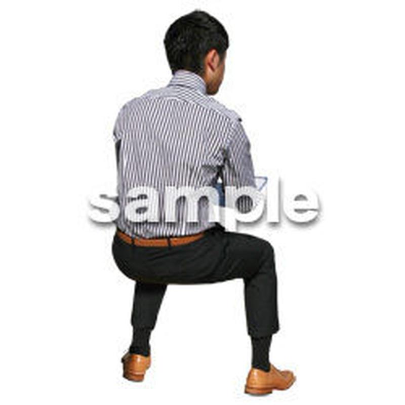人物切抜き素材 座る人編 H_197