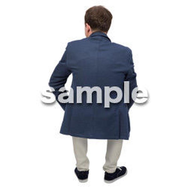 Cutout People 座る 外国人男性 LL_580