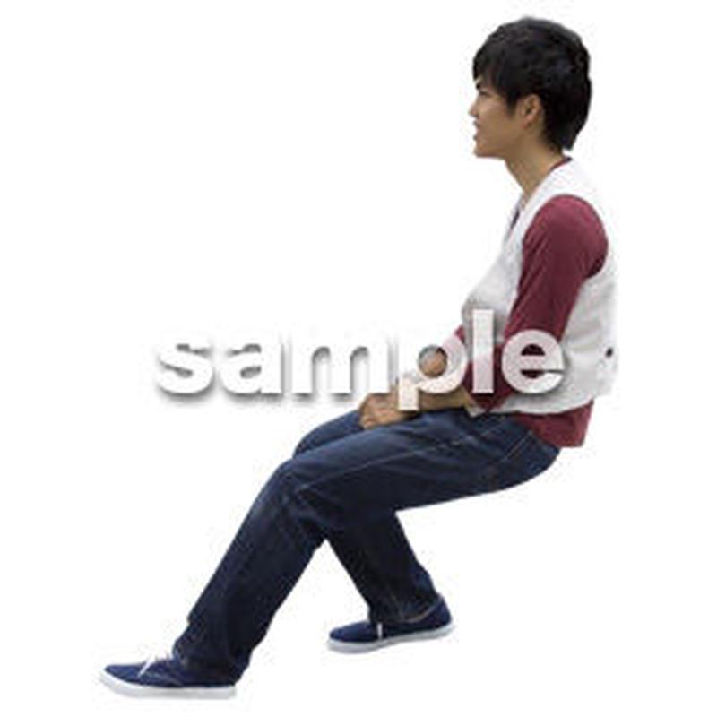 人物切抜き素材 座る人Ⅱ編 Q_589