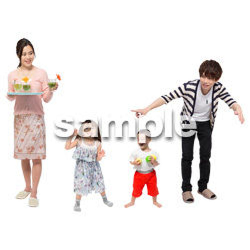 Cutout People 4人家族 II_341