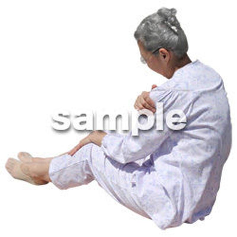 人物切抜き素材 シニア介護編 S_251