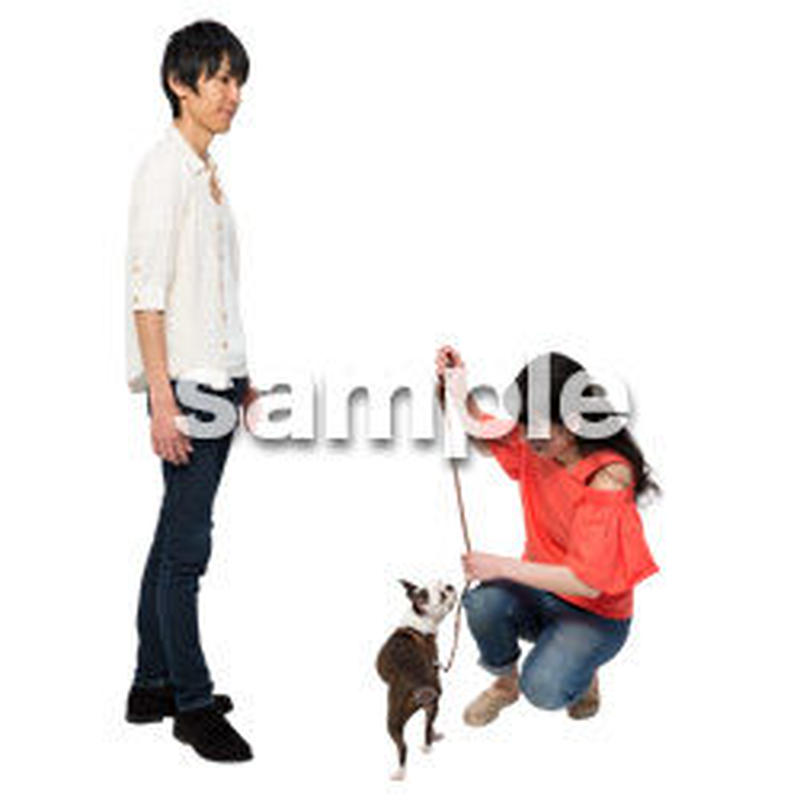 Cutout People 犬の散歩 II_471