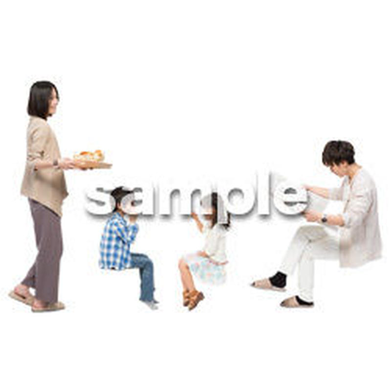 Cutout People 4人家族 II_353