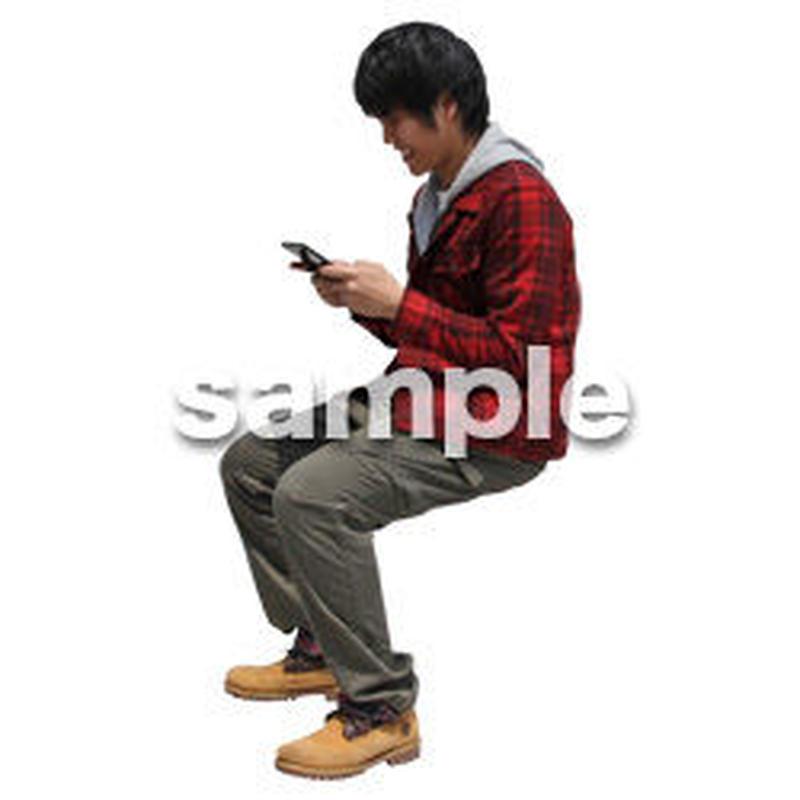 人物切抜き素材 レジャー・ショッピング編 L_492