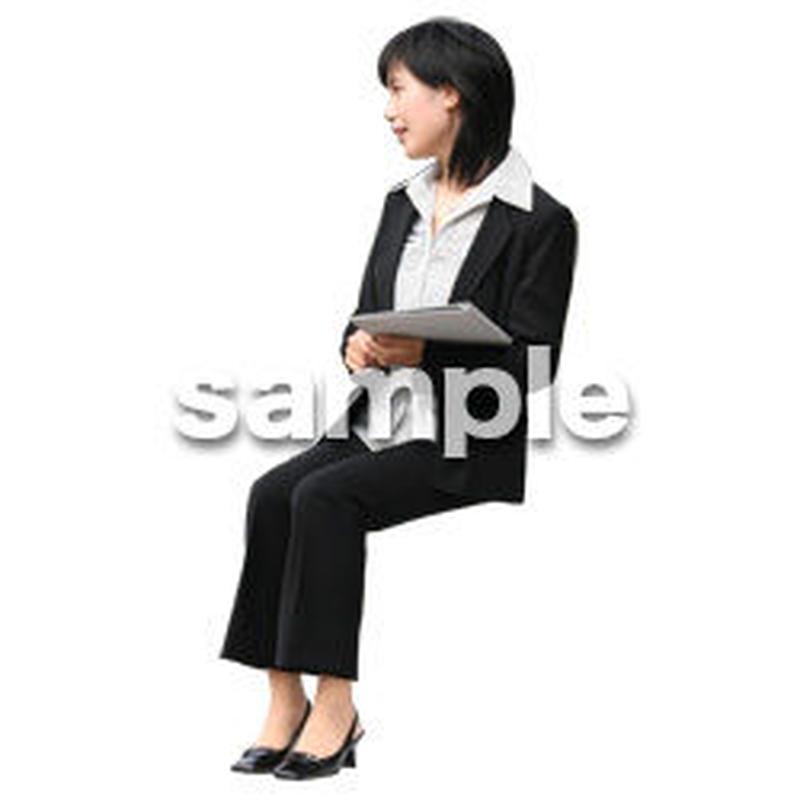 人物切抜き素材 座る人編 H_391