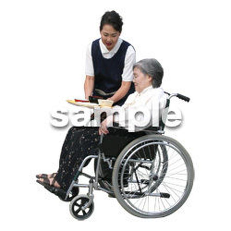 人物切抜き素材 医療・シニア車椅子編 D_293