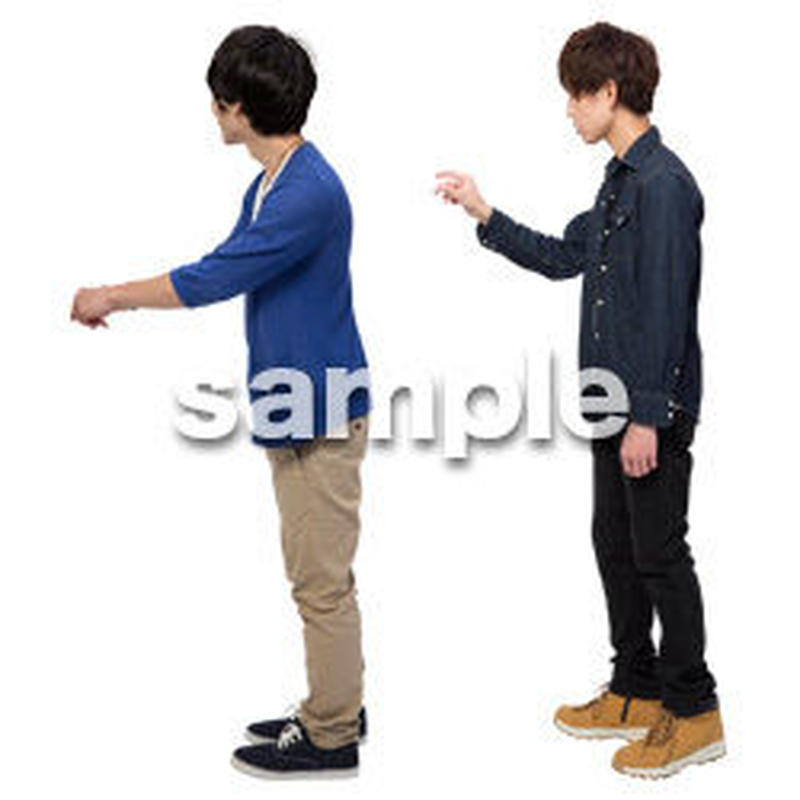 Cutout People 男性ペア JJ_423