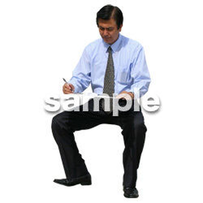 人物切抜き素材 座る人編 H_214
