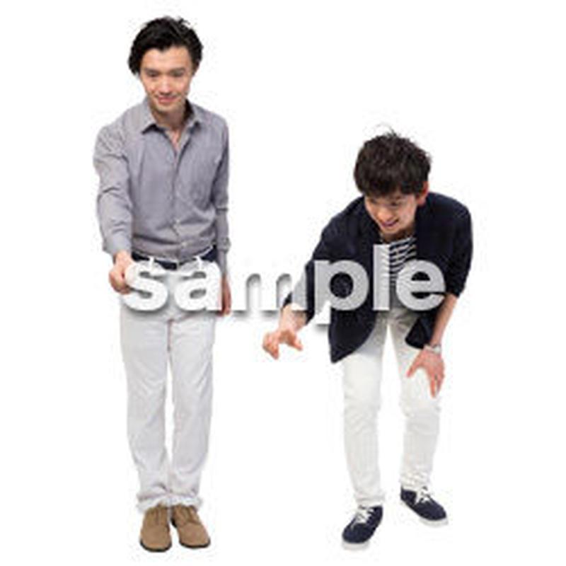 Cutout People 男性ペア JJ_431