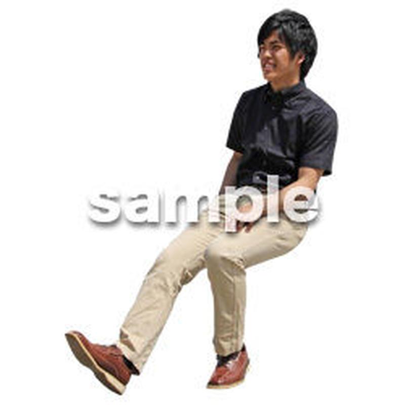 人物切抜き素材 座る人Ⅱ編 Q_574