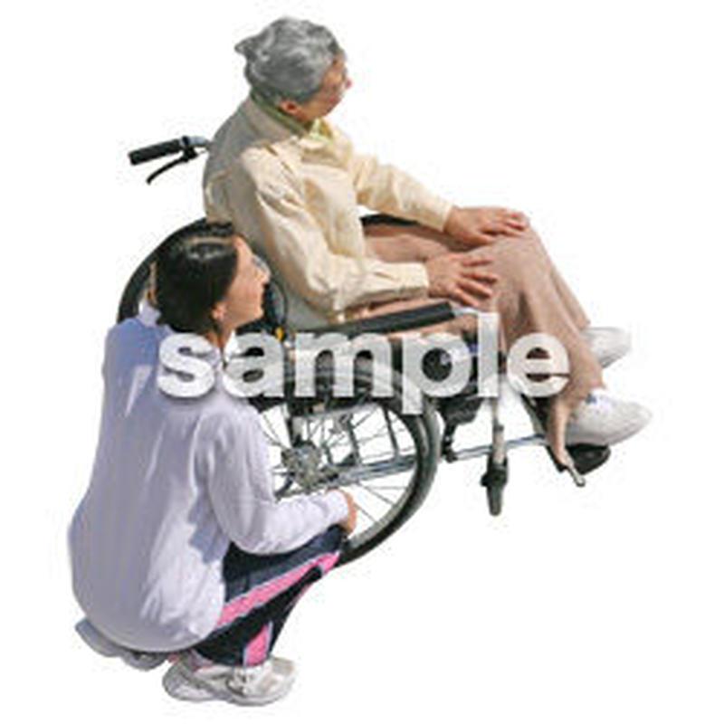 人物切抜き素材 シニア介護編 S_350