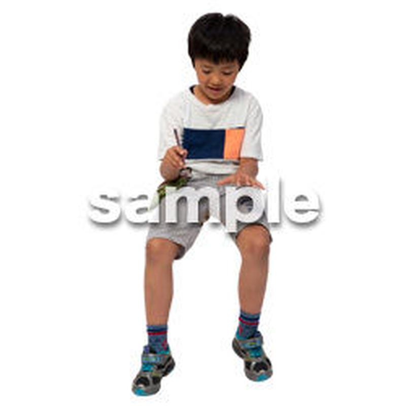 Cutout People 座る 男の子 LL_546