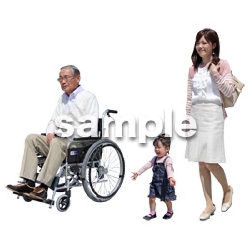 人物切抜き素材 シニア介護編 S_007