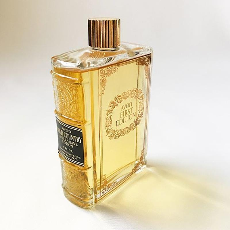 """Vintage """"AVON"""" Book Bottle First Edition Wild Country After Shave Lotion for Display"""