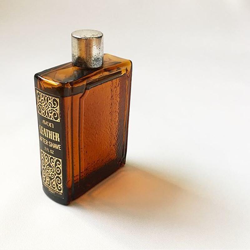 "Vintage ""AVON"" Book Bottle Leather After Shave Lotion for Display"
