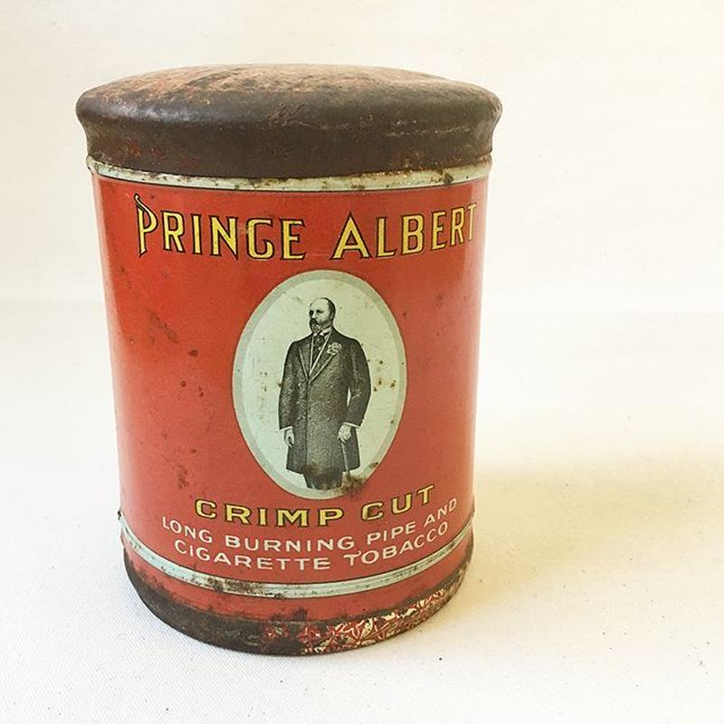 """U.S.A. Vintage """"PRINCE ALBERT"""" Pipe and Cigarette Tobacco Tin Can."""