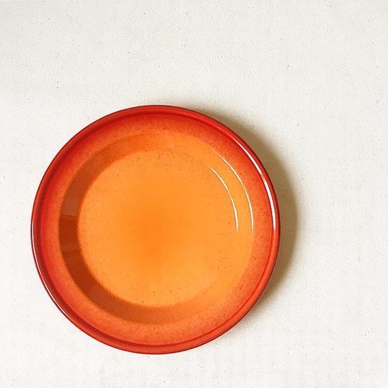 "France ""Emile Henry"" Used Orange 21cm Plate"