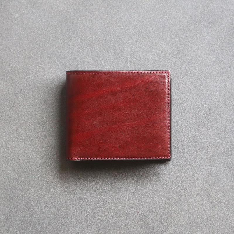 【Rugato】二つ折り財布 / ワインレッド