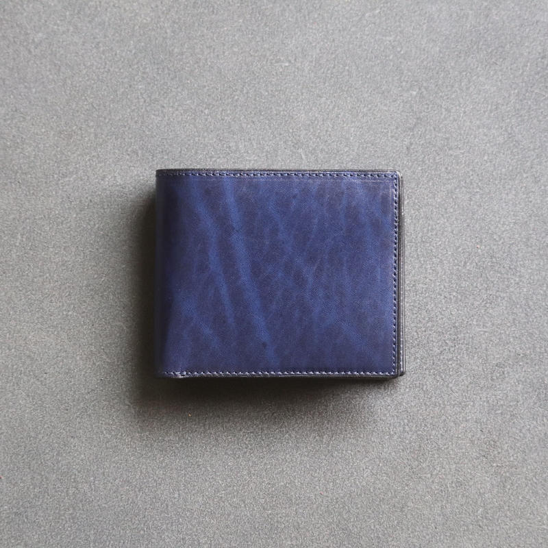 【Rugato】二つ折り財布 / ネイビー