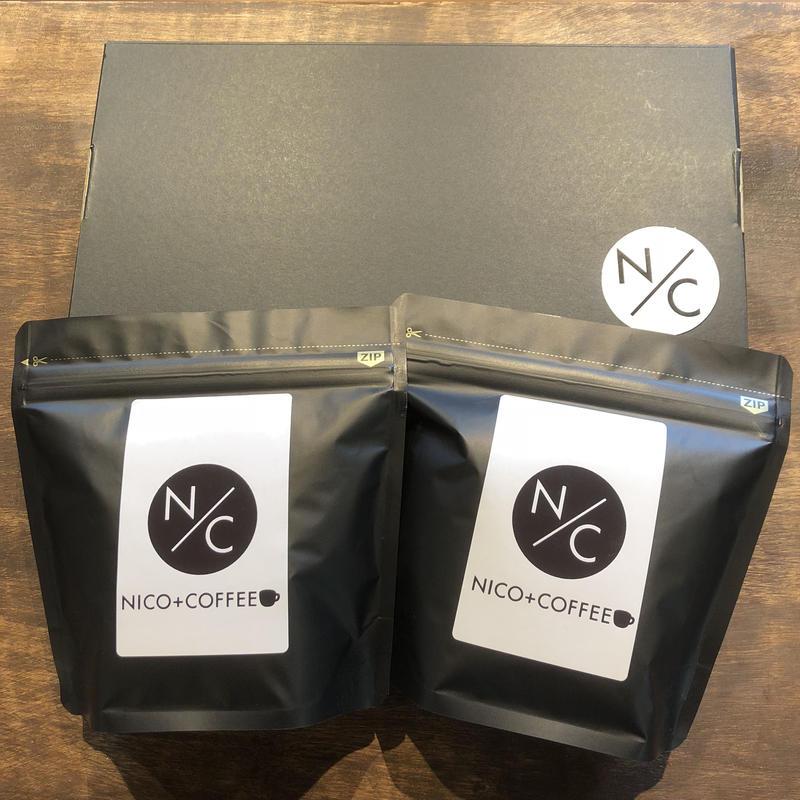 *バリ神山カフェインレス*コーヒー豆  ギフトセット【100g×2袋入り】