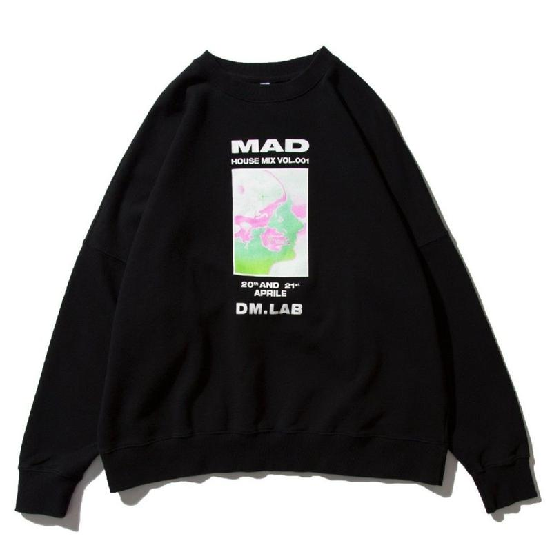 DEMARCOLAB MAD HOUSE MIX SWEAT BLACK