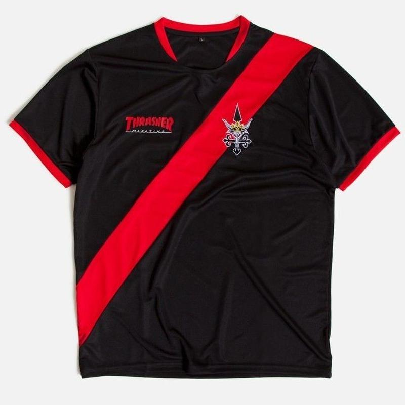 THRASHER - FUTBOL JERSEY - BLACK/RED