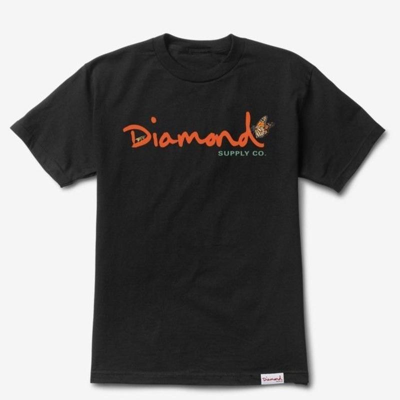 DIAMOND SUPPLY CO PARADISE OG SCRIPT TEE-BLACK