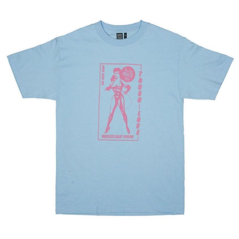 ON OUR OWN  TOUGH LOVE TEE    P,BLUE