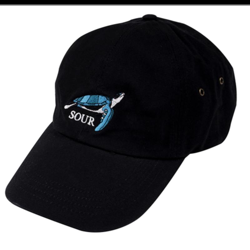 SOUR SOLUTION   TURTLE DAD CAP  BLACK
