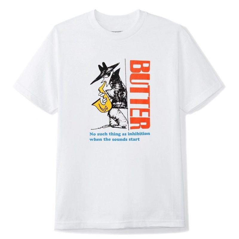 BUTTER GOODS INHIBITION TEE-WHITE