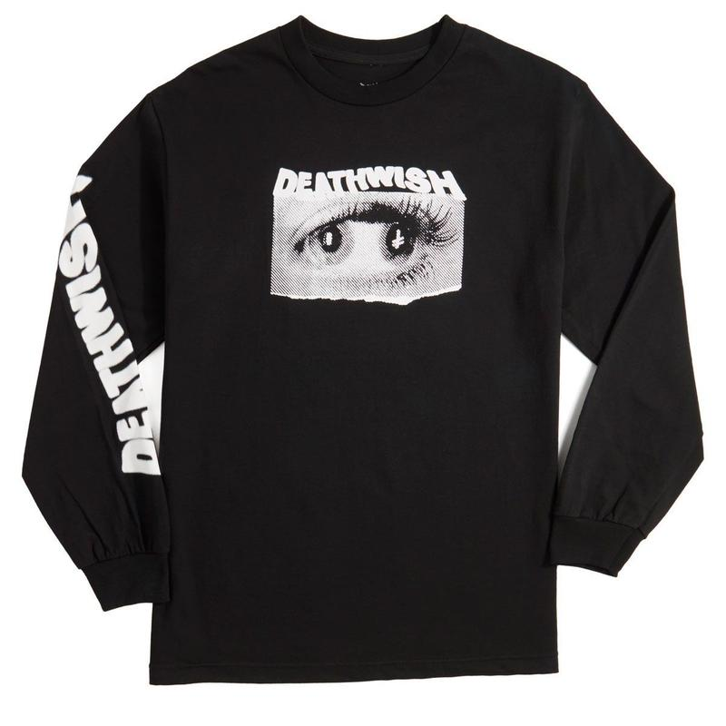 DEATH WISH DOUBLE VISION L/S TEE    BLACK