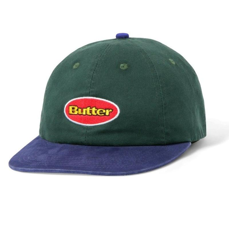 BUTTER GOODS BADGE 6 PANEL CAP-FOREST / BLUE