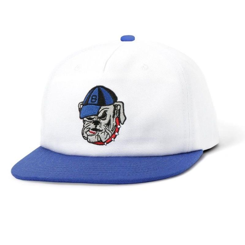 BUTTER GOODS BULLDOG SNAPBACK CAP-WHITE / ROYAL