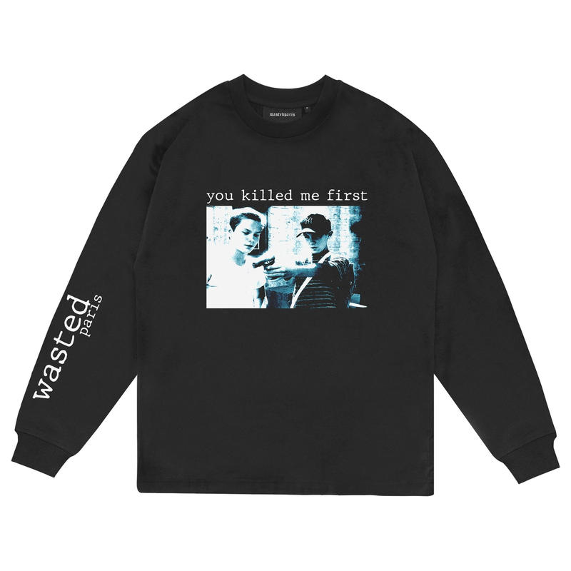 WASTED PARIS KILL ME FIRST L/S TEE-BLACK