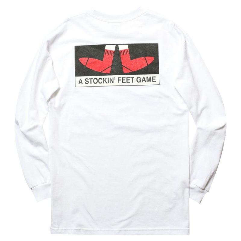 WHIMSY FEET GAME L/S TEE-WHITE