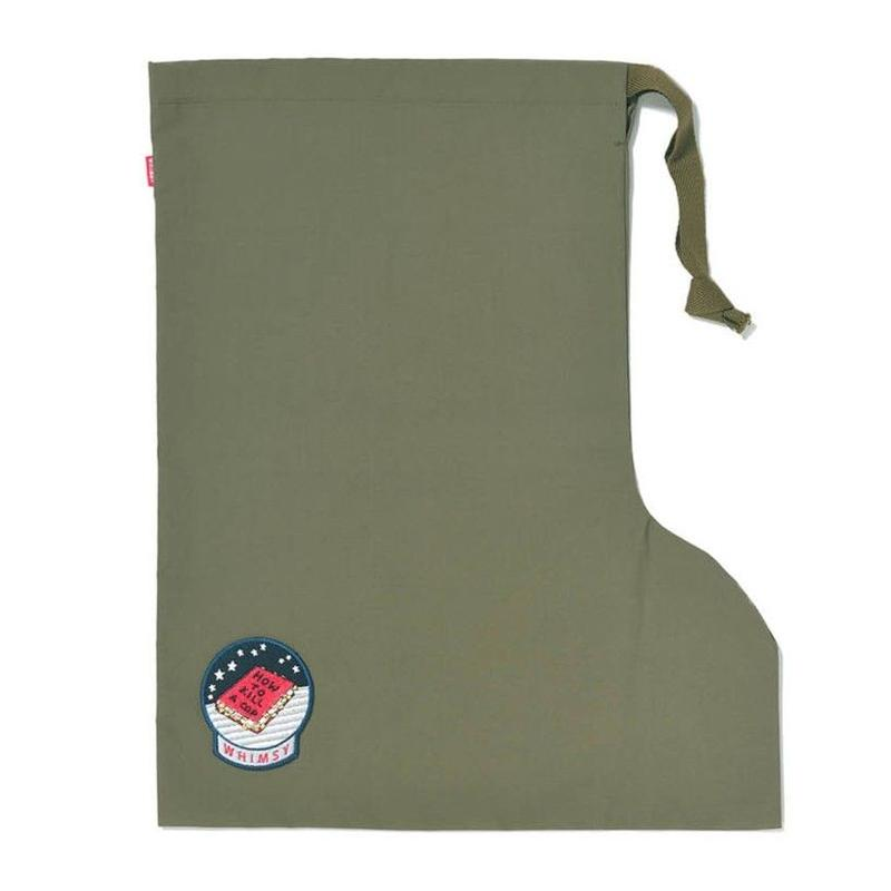 WHIMSY NYLON SOCKS BAG-OLIVE