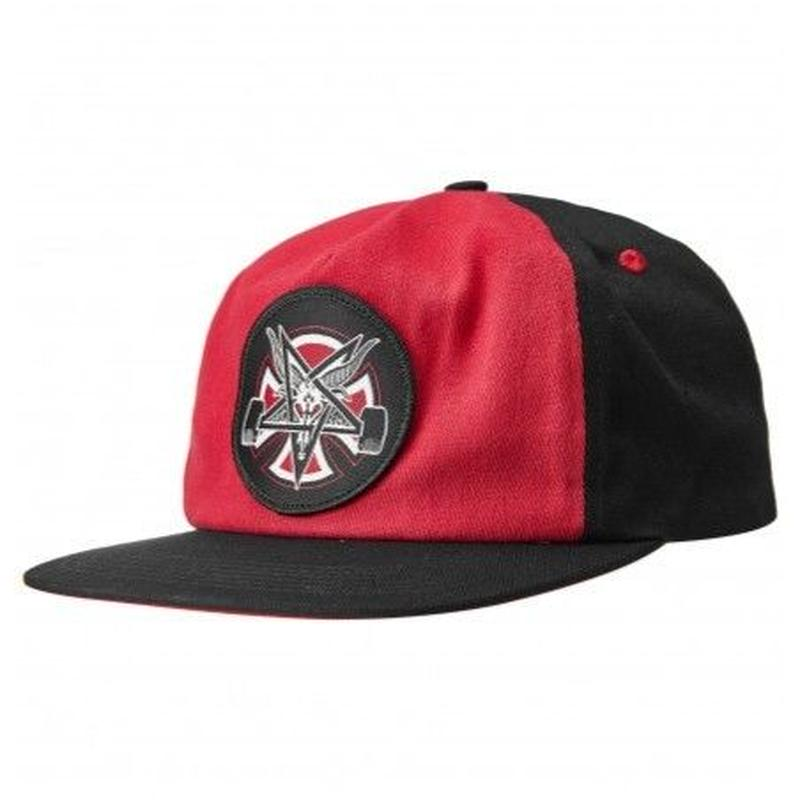 INDEPENDENT X THRASHER PENTAGRAM SNAP BACK RED/BLACK