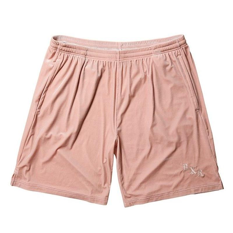 BORN X RAISED VELOUR SHORTS-DUSTY ROSE