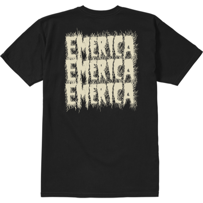 EMERICA  SCANNER S/S TEE-BLACK