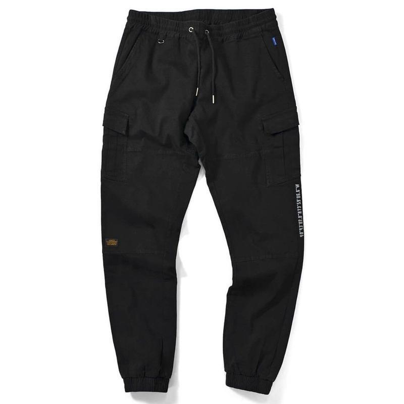 LAFAYETTE COTTON TACTICAL JOGGER PANTS-BLACK