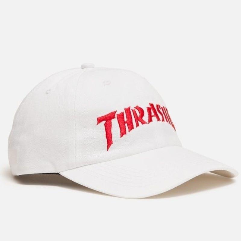 THRASHER X NECKFACE INVERT OLD TIMER HAT WHITE