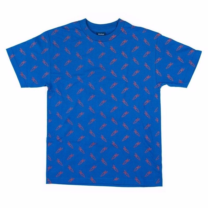 CARROTS ALL OVER CARROT S/S TEE  ROYAL BLUE