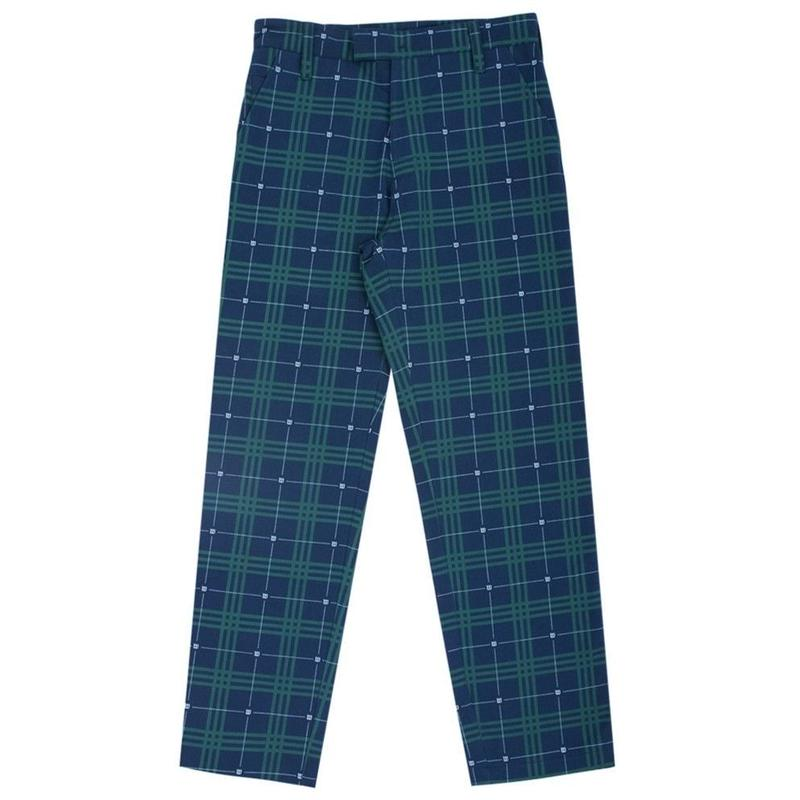 WASTED PARIS TARTAN PANT-BLUE/GREEN