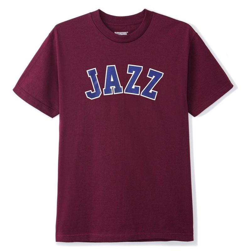 BUTTER GOODS JAZZ TEE-BURGUNDY