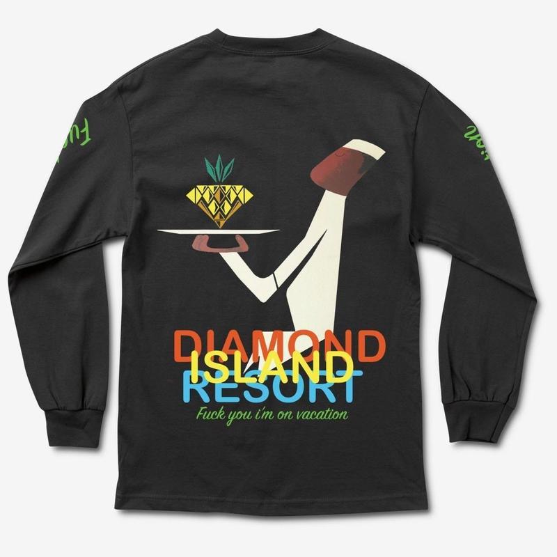 DIAMOND SUPPLY CO RESORT L/S TEE-BLACK